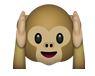 Affe hält sich die Ohren zu