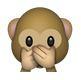 Affe hält sich den Mund zu Bedeutung