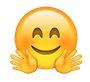 Emoji mit roten Wangen und Händen