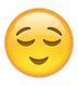 Lachendes Gesicht, Augen nach unten