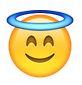 Smiley mit Heiligenschein Bedeutung