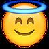Smiley mit Heiligenschein