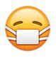 WhatsApp-Smiley mit Mundschutz