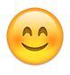 WhatsApp-Smiley mit roten Wangen