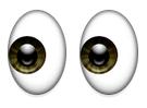 Zwei Augen schauen nach links Emoji