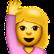 Frau mit Arm nach oben/Hand in die Luft