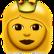 Frau mit Krone