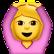 Frau-Smiley mit Händen über dem Kopf