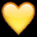 Gelbes Herz Smiley
