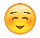 Grinsender Emoji mit roten Backen ☺️