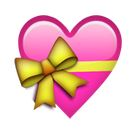 Herz mit gelber Schleife Smiley