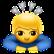 Junge mit grauen Pfeilen über dem Kopf
