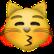 Katze mit Kussmund