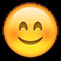 Lachender Emoji mit roten Wangen