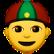 Mann mit Gua Pi Mao (rot-grüne Mütze)