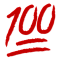 Rote 100 Zahl in Snapchat