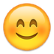Emoji mit roten Wangen