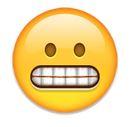 Smiley zeigt Zähne