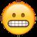 Emoji zeigt Zähne