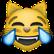 Vor lachen weinende Katze