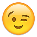 Zwinkernder Smiley