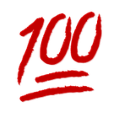 Rote 100 Zahl Smiley