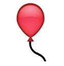 Roter Luftballon Smiley