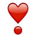 Rotes Herz mit Kreis Emoji