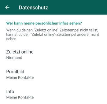 WhatsApp unsichtbar sein für bestimmte Kontakte? › smiley