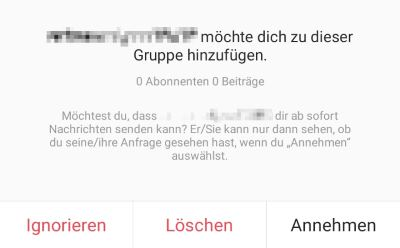 instagram spam gruppe
